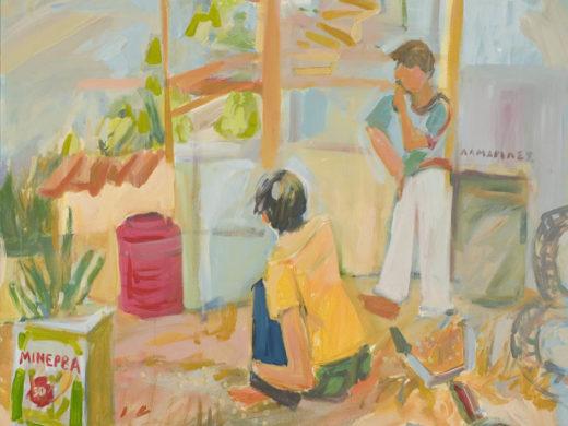 Βοτανικός - 100x100cm - acrylics on canvas - 2006