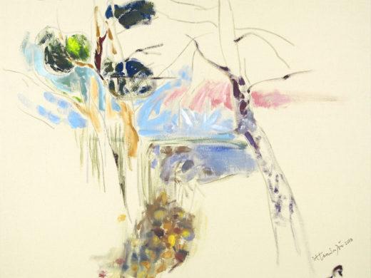 Η σιωπή στην αδικία και η απατηλή ελευθερία - Blue Afternoon - 100x100 - Acrylics on Canvas_1500px
